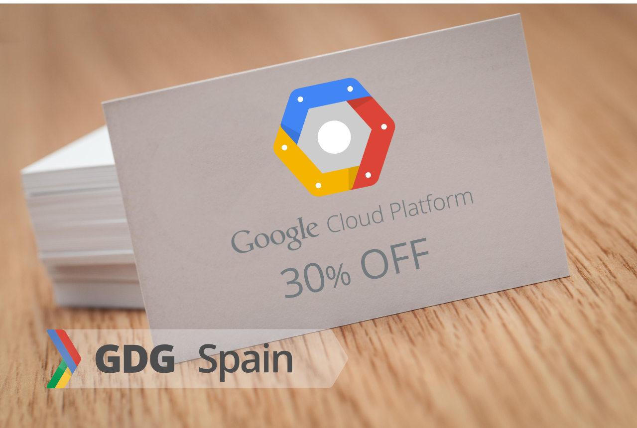 GDG Spain - 30% de descuento