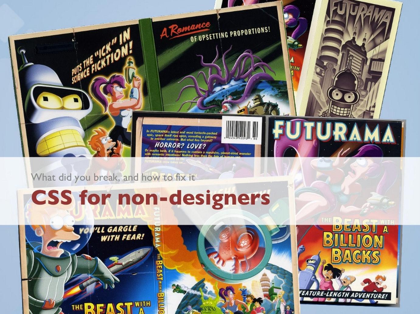 CSS for non-designers
